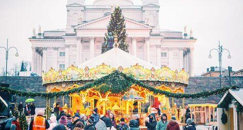 Рождественские декорации Хельсинки