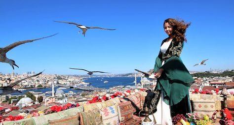Крыша, чайки иБосфор! Фотосессия восманском стиле