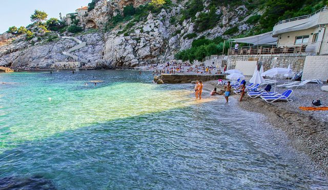 Пляж Бельвю Дубровника